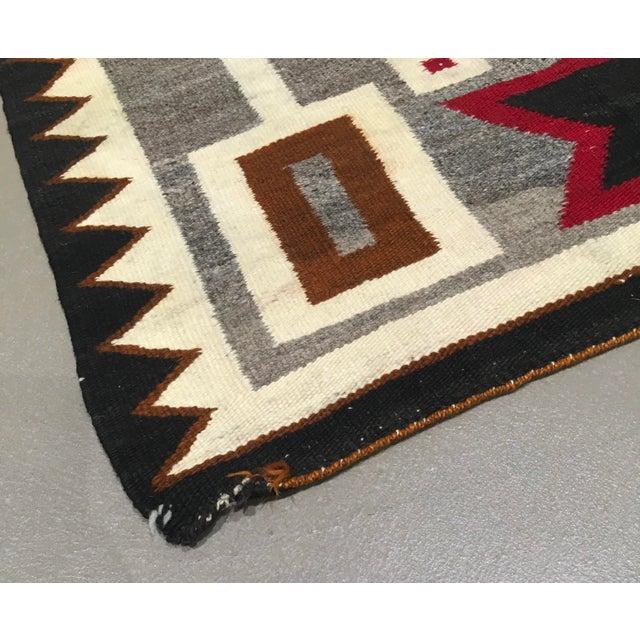 """Arts & Crafts Vintage Navajo Storm Pattern Rug - 2'8"""" X 4'11"""" For Sale - Image 3 of 6"""