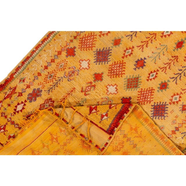 """Antique Moroccan Rug, 3'10"""" X 6'2"""" For Sale - Image 4 of 10"""
