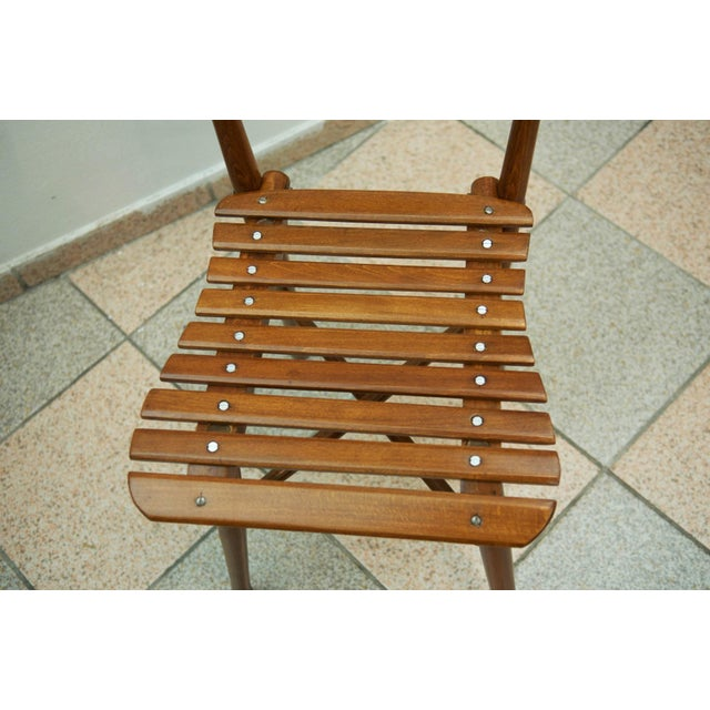 Brown Antique garden chair by J. & J. Kohn, 1900 For Sale - Image 8 of 11