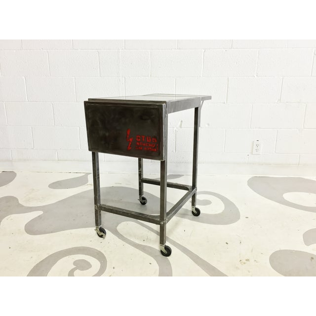 Industrial Metal Cart With Russian Industrial Sign - Image 2 of 6