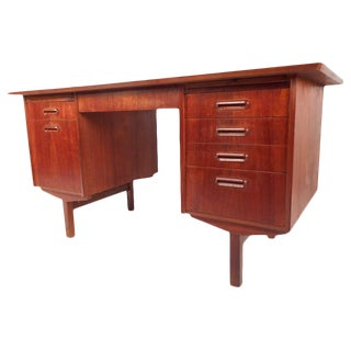Mid-Century Modern Danish Teak Writing Desk For Sale
