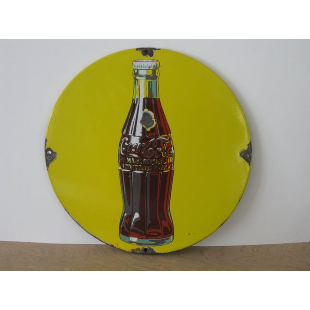 Antique Coca-Cola Porcelain Sign For Sale - Image 11 of 13