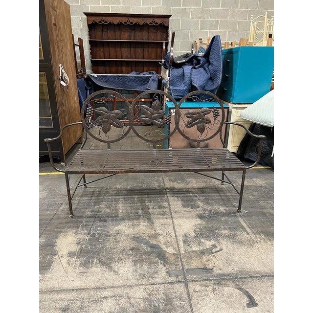 Late 20th Century Heavy Iron Bench by Maitland Smith For Sale - Image 11 of 11