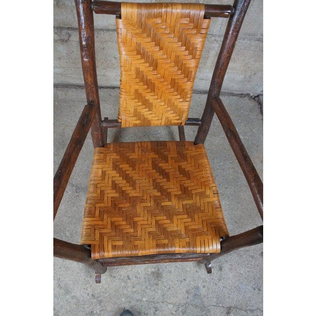 Rustic Hickory Furniture Company No. 21 Rocker Adirondak Lodge Rocking Chair For Sale - Image 9 of 12