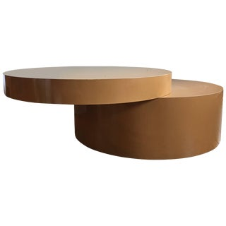 Two-Tier Swivel Top Coffee Table For Sale