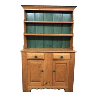 Vintage Style Painted Hutch by Zia Furniture For Sale