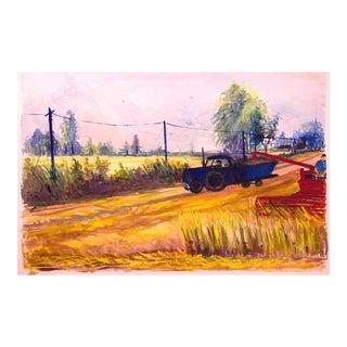 Vintage Original Farm Painting