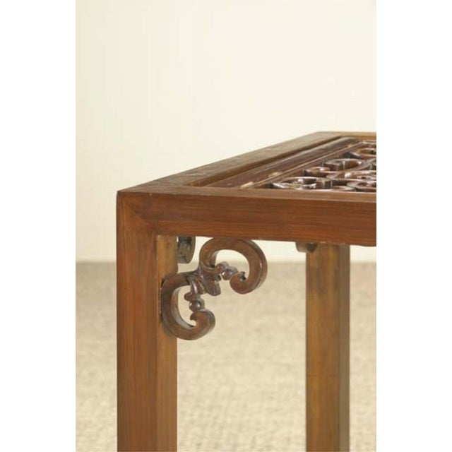 1900 - 1909 Carved Side Table from China For Sale - Image 5 of 6