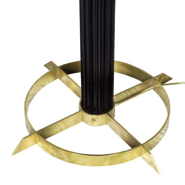 1960s 1960s Standing Lamp, Striated Walnut Stand, Brass, Jordi Vilanova - Barcelona For Sale - Image 5 of 10
