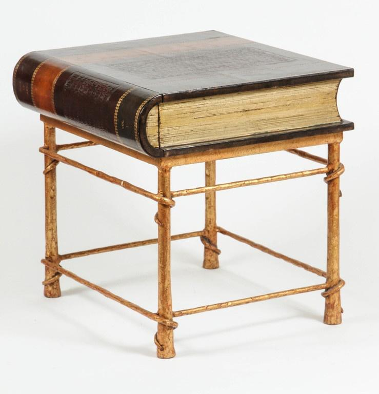Maitland Smith Leather Book Side Table   Image 6 Of 7