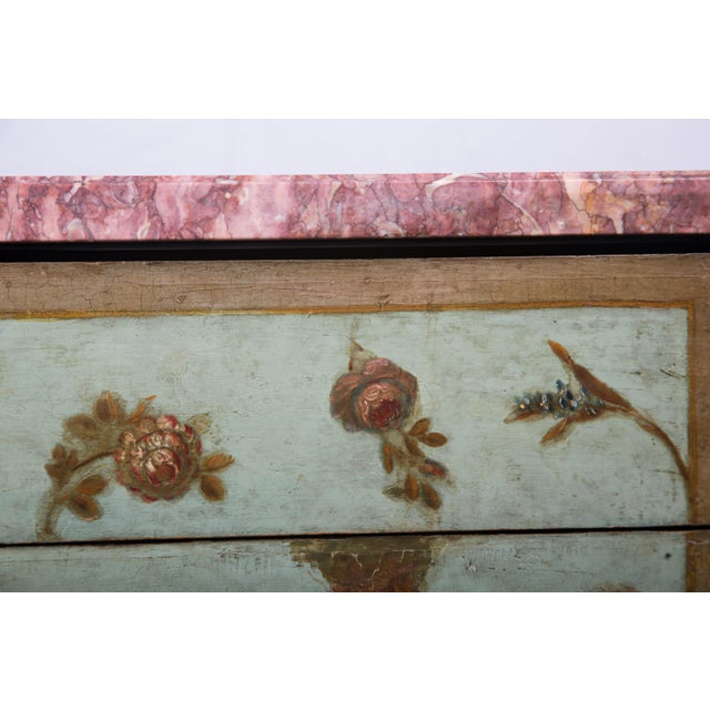 19th Century Louis XV/XVI Transitional Style Painted Commode For Sale - Image 4 of 7