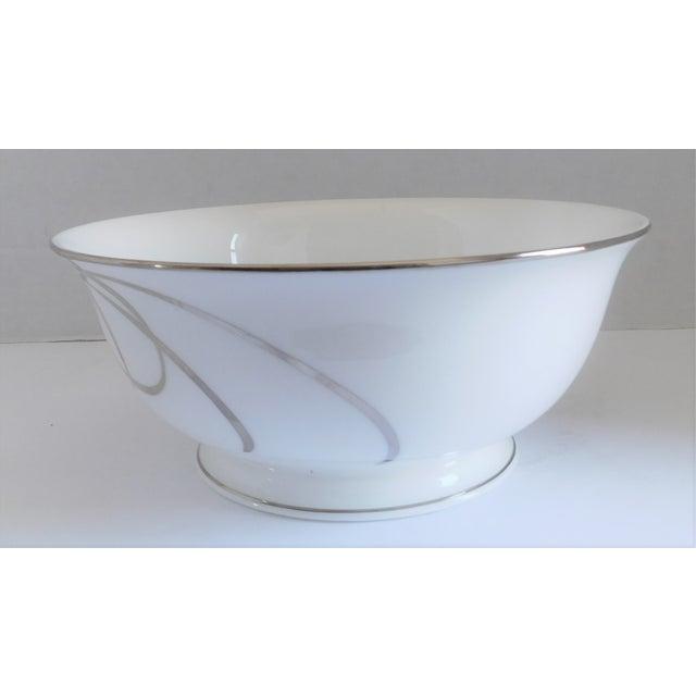 White Kate Spade Belle Boulevard/Lenox White Porcelain Bowl For Sale - Image 8 of 10