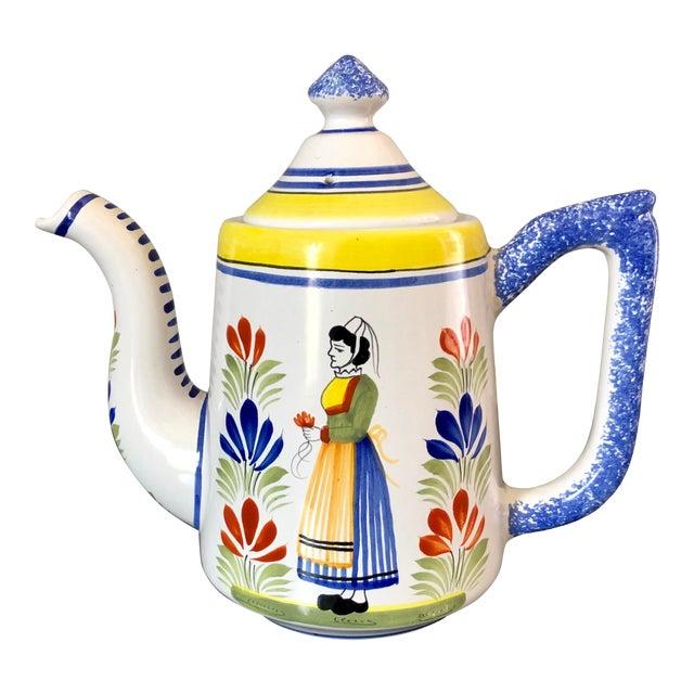 Vintage Henriot Quimper Coffee Pot For Sale