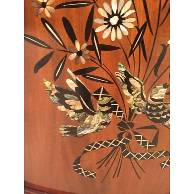 Art Deco Jules Leleu French Art Deco Mother-of-Pearl Inlay Butterfly Buffet For Sale - Image 3 of 10