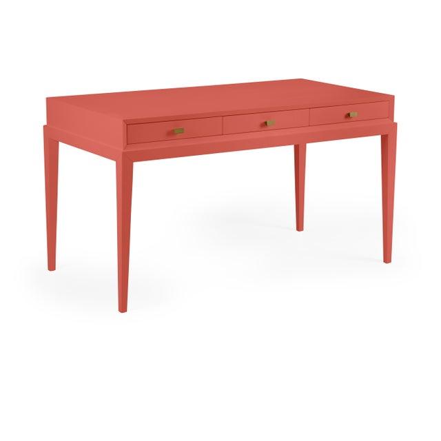 Transitional Casa Cosima Hayes Desk, Crimson For Sale - Image 3 of 3