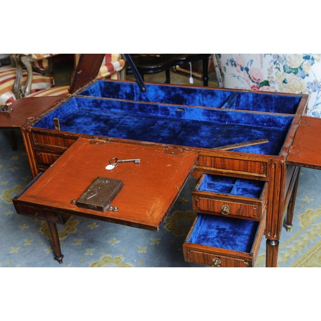 Late 18th Century Louis XVI Walnut Valuables Cabinet Desk For Sale - Image 5 of 11