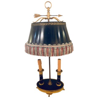 Early 19th Century Doré Bronze Bouilliotte Table Lamp For Sale