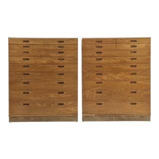 Mid-Century Modern Edward Wormley for Dunbar Dressers - a Pair For Sale