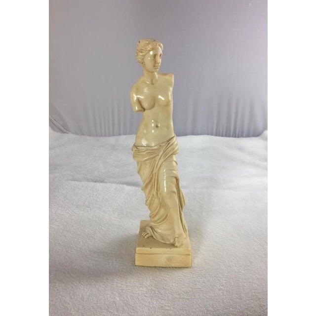 Stone 1950's Venus De Milo Alabaster Goddess of Love, Signed For Sale - Image 7 of 7