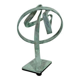 Contemporary Forged Painted Copper Abstract Table Sculpture by Robert Hansen For Sale