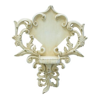 French Provincial Leaf and Scroll Wall Shelf For Sale