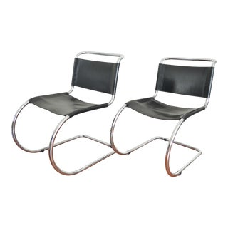Mies Van Der Rohe Style Cantilever Chairs