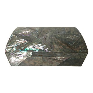 Gray Abalone Hinged Box For Sale