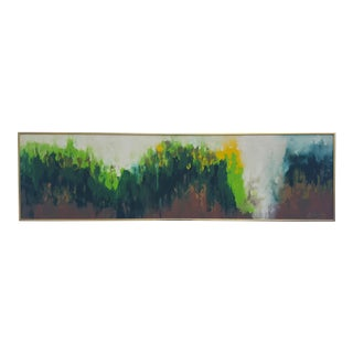 Pines Forest Expressionist Painting by Gurney For Sale