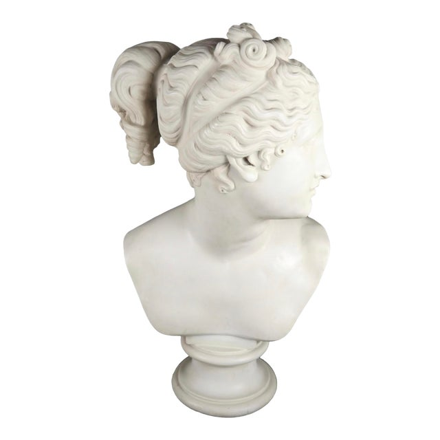 Neoclassical Classical Bust of Goddess Diana For Sale