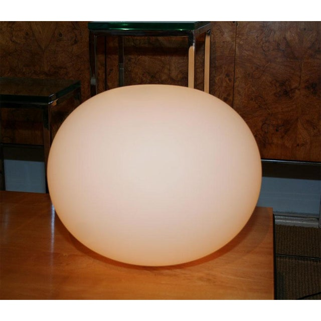 "A large glass minimalist ""Glo Ball"" shade by Jasper Morrison useful as table or floor lamp. American, circa 1990."