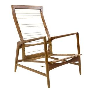 Vintage Mid Century Kofod Larsen for Selig Danish Modern High Back Chair Frame For Sale