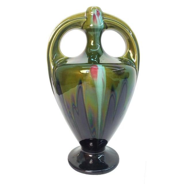 Ceramic Art Nouveau Vase by Hermine-Declercq For Sale - Image 7 of 7