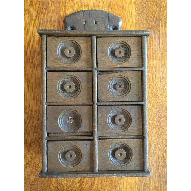 Antique Rustic Spice Box - Image 2 of 8