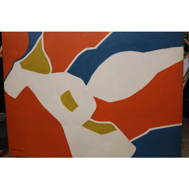 Large-Scale Hard Edge Painting by Antonia Davis For Sale - Image 4 of 9
