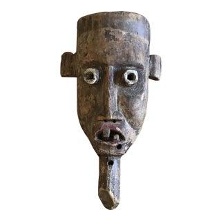 Primitive Vintage Folk Art Mask For Sale