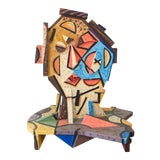 Image of Italo Scanga Oil on Wood Head #10 Sculpture From the Helander Gallery Worth Ave Palm Beach For Sale
