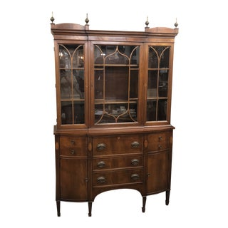 1940s Federal Style Hutch For Sale