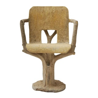 Faux Bois Cement Chair For Sale