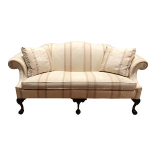 Thomasville Chippendale Camel Back Ball & Claw Sofa For Sale