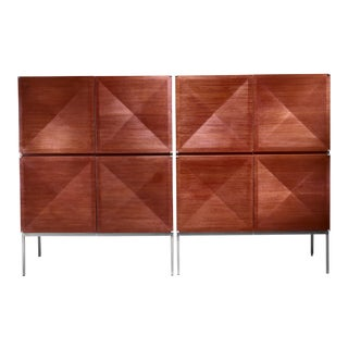 Pair of 'Pointe De Diamant' Sideboards / Highboards by Philippon and Lecoq For Sale