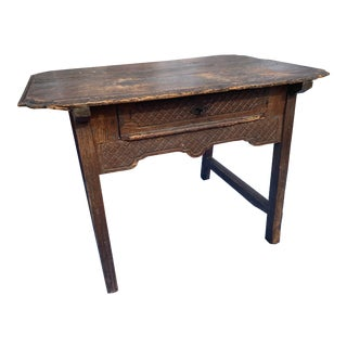 18th Century Mexican Table With One Drawer For Sale