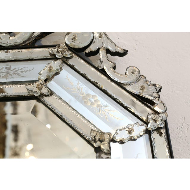Octagonal Venetian Mirror For Sale - Image 11 of 12