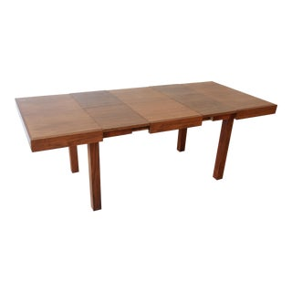 Early George Nelson for Herman Miller Walnut Extension Dining Table For Sale