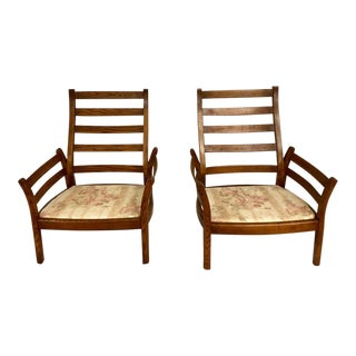 1980s Mid-Century Modern Ercol Savlle Arm Chairs - a Pair For Sale