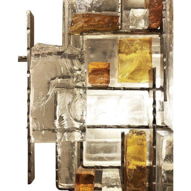 Metal Poliarte Brutalist Wall Lights by Poliarte - a Pair For Sale - Image 7 of 9