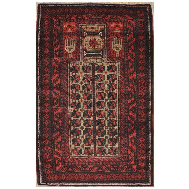 Small Vintage Handmade Afgani Rug - 3'7'' X 6'4'' - Image 1 of 4