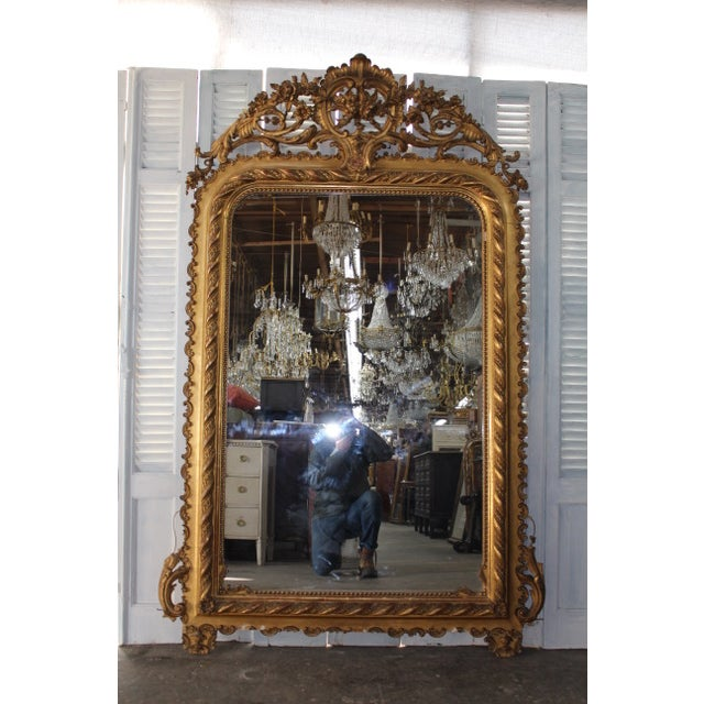 Gold 18th Century Antique French Louis Philippe Mirror For Sale - Image 8 of 8