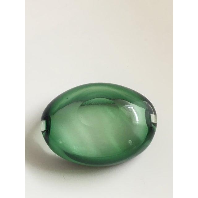 Alfredo Barbini Murano Glass Green Ashtray For Sale - Image 5 of 7