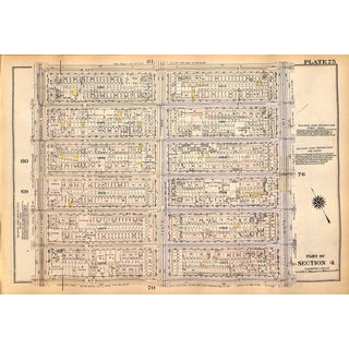 New York City Map, West Side, W. 47th - W. 53rd, 11th - 9th Ave, Madison Square Garden, 9th - 7th Ave, 1927 (Pl. 75-76) For Sale
