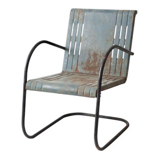 MId-Century Metal Patio Chair For Sale